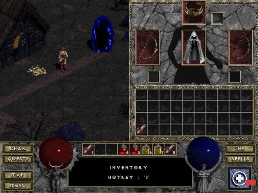 diablo 1996 gameplay, history