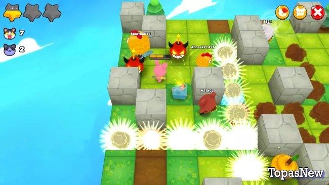 Бесплатная игра Battle Royale в стиле Bomberman
